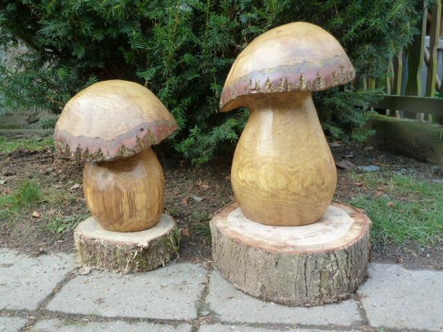 schnitzen mit der kettens ge chainsaw carving dirk rudolf bildhauerei pflanzen pilze. Black Bedroom Furniture Sets. Home Design Ideas